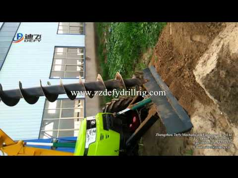 DFT-A1004 Crane Mounted Auger Drilling Rig for Power Pole