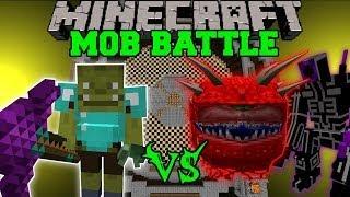ORC SHAMAN VS CACODEMON, MUTANTS, & MAGE - Minecraft Mob Battles - Mods