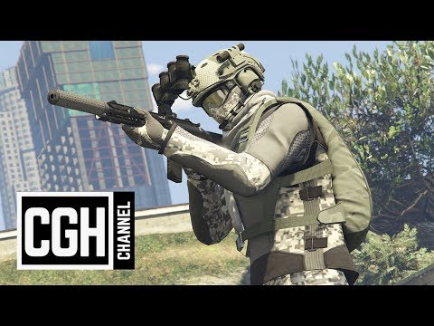 GTA 5 Online - Best Military Outfits (4K)