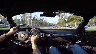 300km/h Ferrari LaFerrari OnBoard Monza Fast Laps in Traffic!!