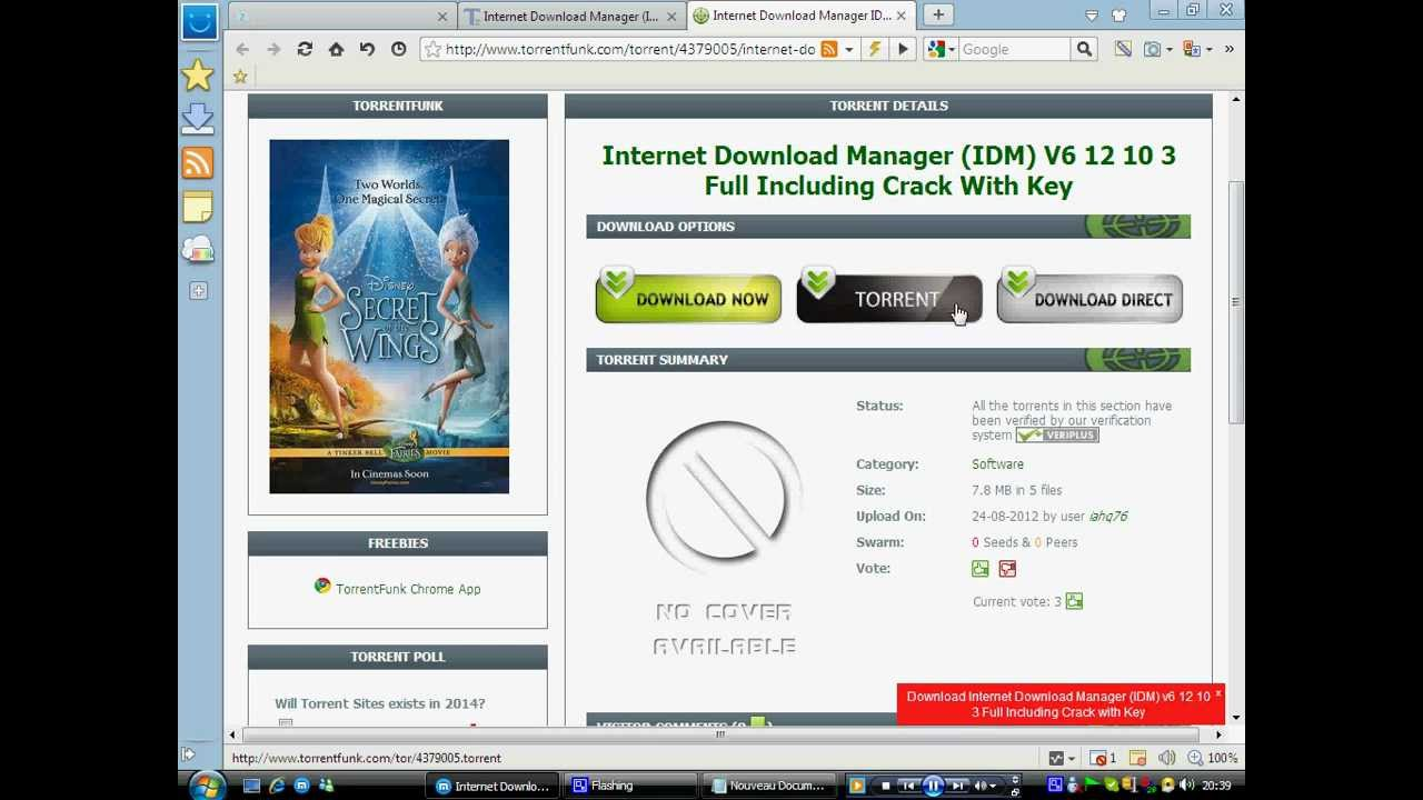 Download torrent with IDM 3 Tricks that are 100