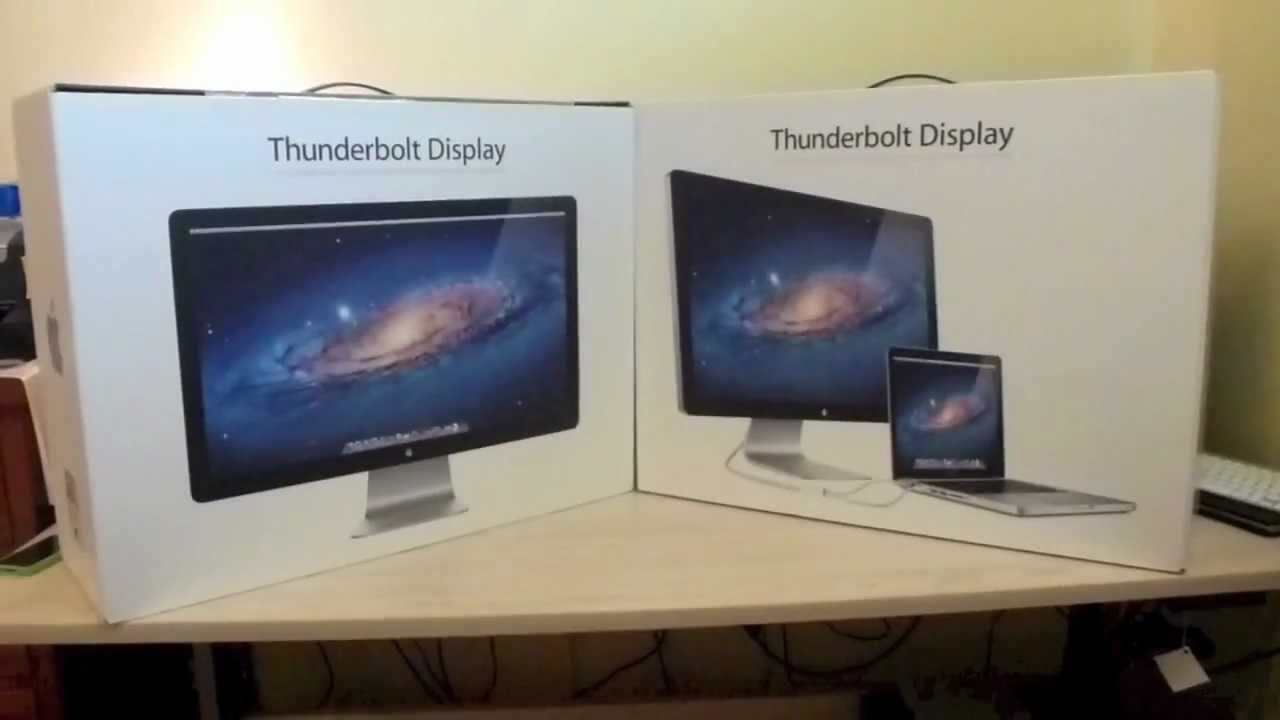 Dual Apple Thunderbolt Display S Unboxed Amp Connected To