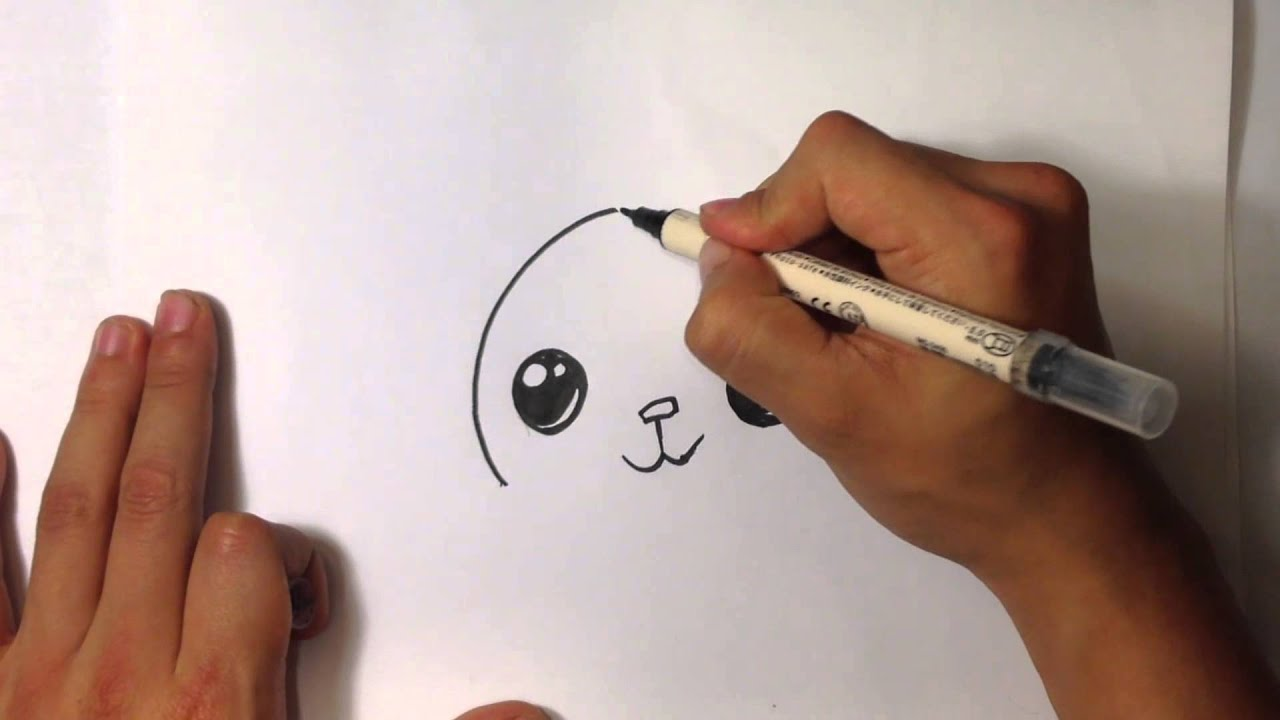 How to Draw a Cute Bunny - Easy Pictures to Draw - YouTube