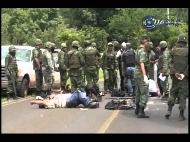 Mueren 8 criminales en intenso enfrentamiento con el ejérctio, en Tacámbaro