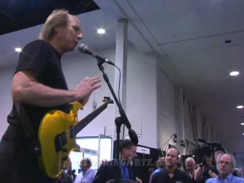 Adrian Belew at NAMM 2009 introducing his new Parker Guitar at the USMusic booth. Part 1