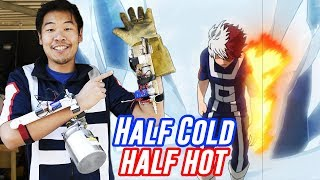 Building Shoto's Half-Cold Half-Hot Quirk in Real Life   My Hero Academia Month!!!