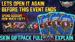 Let's Open it Again!!! 2000 Diamond Skin Giftpack | How Much I Get For 6K Diamonds? - Mobile Legends