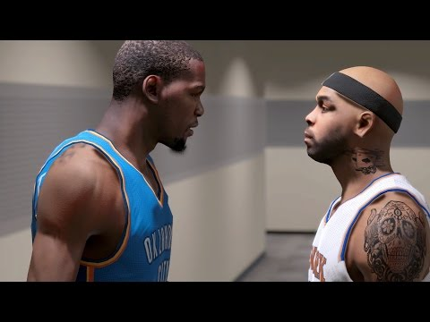 NBA 2K15 MY CAREER PLAYOFFS NFG1 PS4 - Kevin Durant Almost Dropped 50 on Carmelo Anthony!