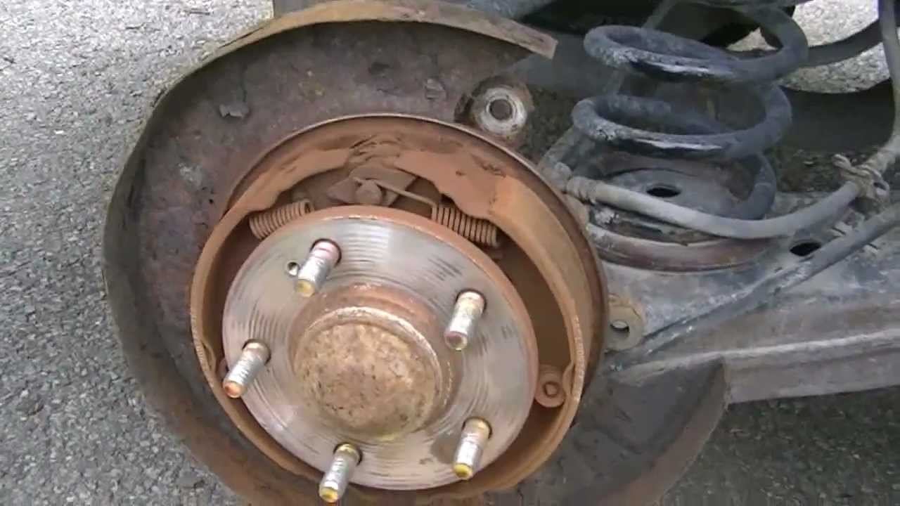 2004 hyundai santa fe rear brake and disc  drum change