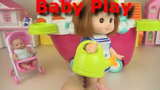 Baby doll sand and flower pot car play baby Doli1