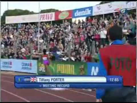 Tiffany Porter wins Women&#039;s 100mH at Ostrava Golden Spike 25.05.2012