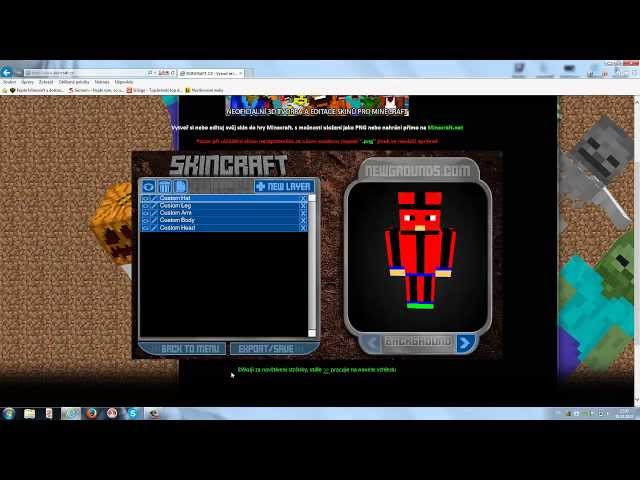 [MINECRAFT]- SkinCreator (bez stahování)