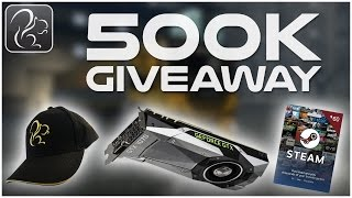 500K SUBSCRIBER GIVEAWAY! (Three Giveaways, Many Prizes!)