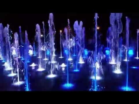 Поющие фонтаны в Казани, парк Горького