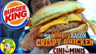 Burger King® | Cheesy Bacon Crispy Chicken Sandwich | Cini Minis Food Review! 🍔👑🐔🌀