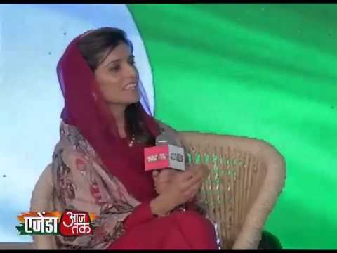Agenda Aajtak 2013:The beautiful Hina Rabbani Khar, former foreign affairs Minister of Pakistan