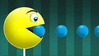 Pacman !  Learn NEW Colors! - Learn Colors for Children