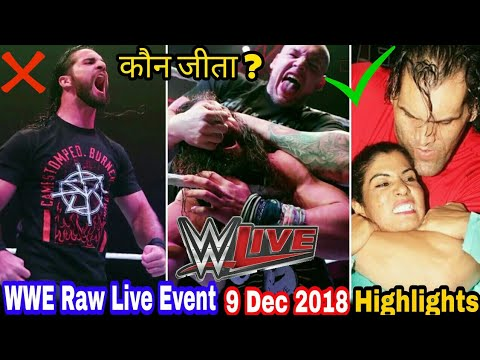 WWE Raw Live Event 9th Dec 2018 Hindi Highlights ! Dean Ambrose Attack Seth With Chair thumbnail