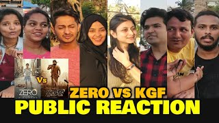 ZERO vs KGF | PUBLIC REACTION On Public Demand | SRK vs Yash | Box Office Battle
