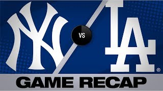 Gregorius' grand slam, 2 homers lead Yankees | Yankees-Dodgers Game Highlights 8/23/19