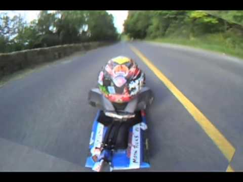 PEC Gravity Race 2011 - POV Scorpion Camera, DH Longboard & Street Luge
