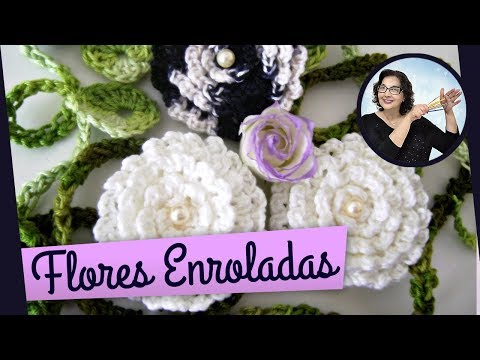 CROCHE FLORES 020  - FLOR ENROLADA 4 Music Videos