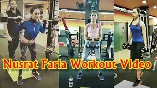 Nusrat Faria Gym Workout Video   Bangladeshi Actress Nusraat Faria Fitness Exercise Secret Video