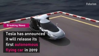 Tesla Announces Flying Car, The Model F