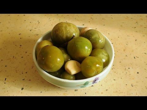 Засолка зелёных помидоров холодным способом / Salting green tomatoes cold