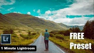 1 Minute Lightroom - Orange & Teal Look FREE Preset