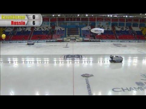 Kazakhstan - Russia (Bandy world championship, Khabarovsk)
