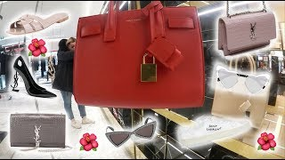 YSL Saint Laurent Luxury Shopping Vlog & Try On Baby Sac De Jour, Sunset Bag, Tribute Sandals + More