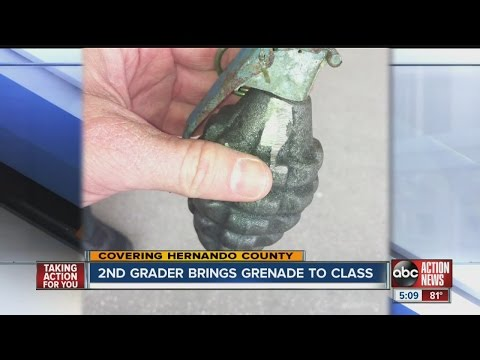 2nd grader brings grenade to class in Hernando County