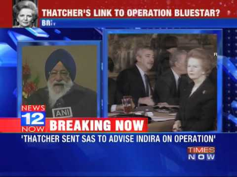 Margaret Thatcher's link to operation Blue Star?