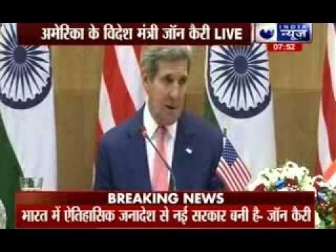 John Kerry praises Narendra Modi's slogan