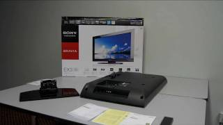 Sony BRAVIA EX3 Time-Lapse Unboxing & Menu Walkthrough