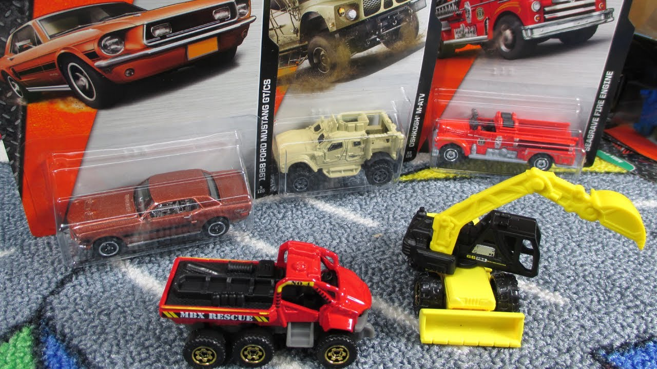 2014 F Case Matchbox 68 Mustang Seagrave Fire Engine And