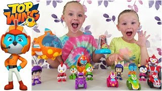 Opening Top Wing Toys With Swift Rescue Toy!! Unboxing Nick Jr Characters