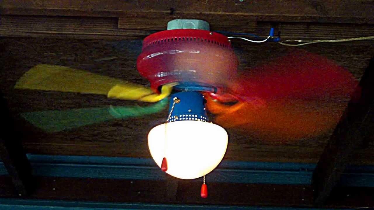 Rainbow Ceiling Fan : Quot home creations rainbow youtube