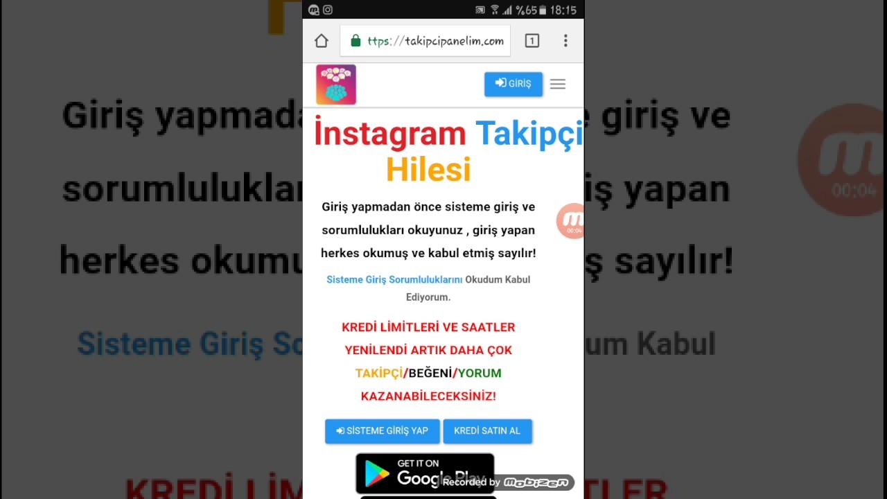 İnstagram %100 türk takipci hilesi 2017 - YouTube
