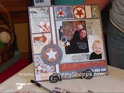 Fathers Day Scrapbook Layout - 12x12 Video