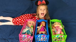 COLOR BEDS FOR BABY DOLL Video for Babies JoyJoy Lika