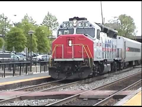 MARC 56 GP40WH-2 in Muirkirk Station, MD.