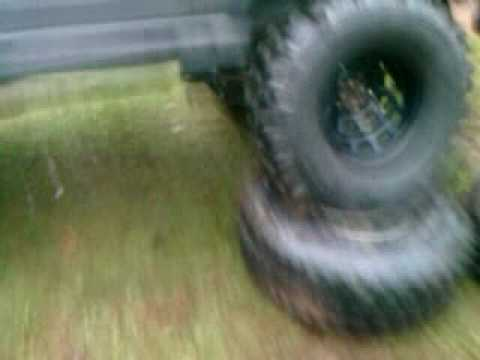 Suzuki Samurai with VW 1.6 Turbo diesel dual transfer cases testing