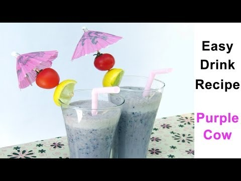 Summer Drink Recipes in Hindi | Purple Cow - 1 of Best Summer Drink Recipes By Sonia Goyal