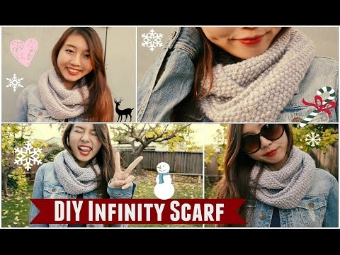 ✂ DIY: Infinity/Circle Scarf | How to Knit
