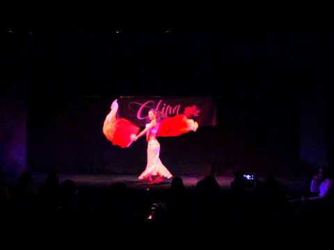 Danza del vientre,  Abanicos de seda - Sandra Satine