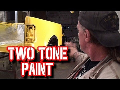 How To Paint Two Tone Colors On Your Car Or Truck-Paint And Body Tech Tips And Tricks