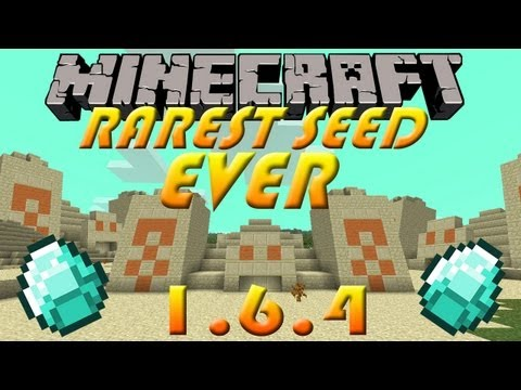 Seed Showcase - 1.6.4 - Rarest Seed EVER! 3 Pyramids, Dungeons and Connecting Ra