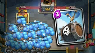 Clash Royale skeleton barrel gameplay ,new attack trick of skeleton barrel